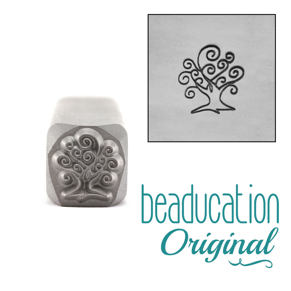 Metal Stamping Tools Small Tree of Life Metal Design Stamp 7.5mm - Beaducation Original