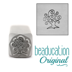Metal Stamping Tools Large Tree of Life Metal Design Stamp 10mm - Beaducation Original