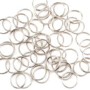 Jump Rings Silver Plated Nickel 10mm I.D. Split Rings, Pack of 50