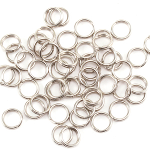 Jump Rings Silver Plated Nickel 4.25mm I.D. Split Rings, Pack of 50