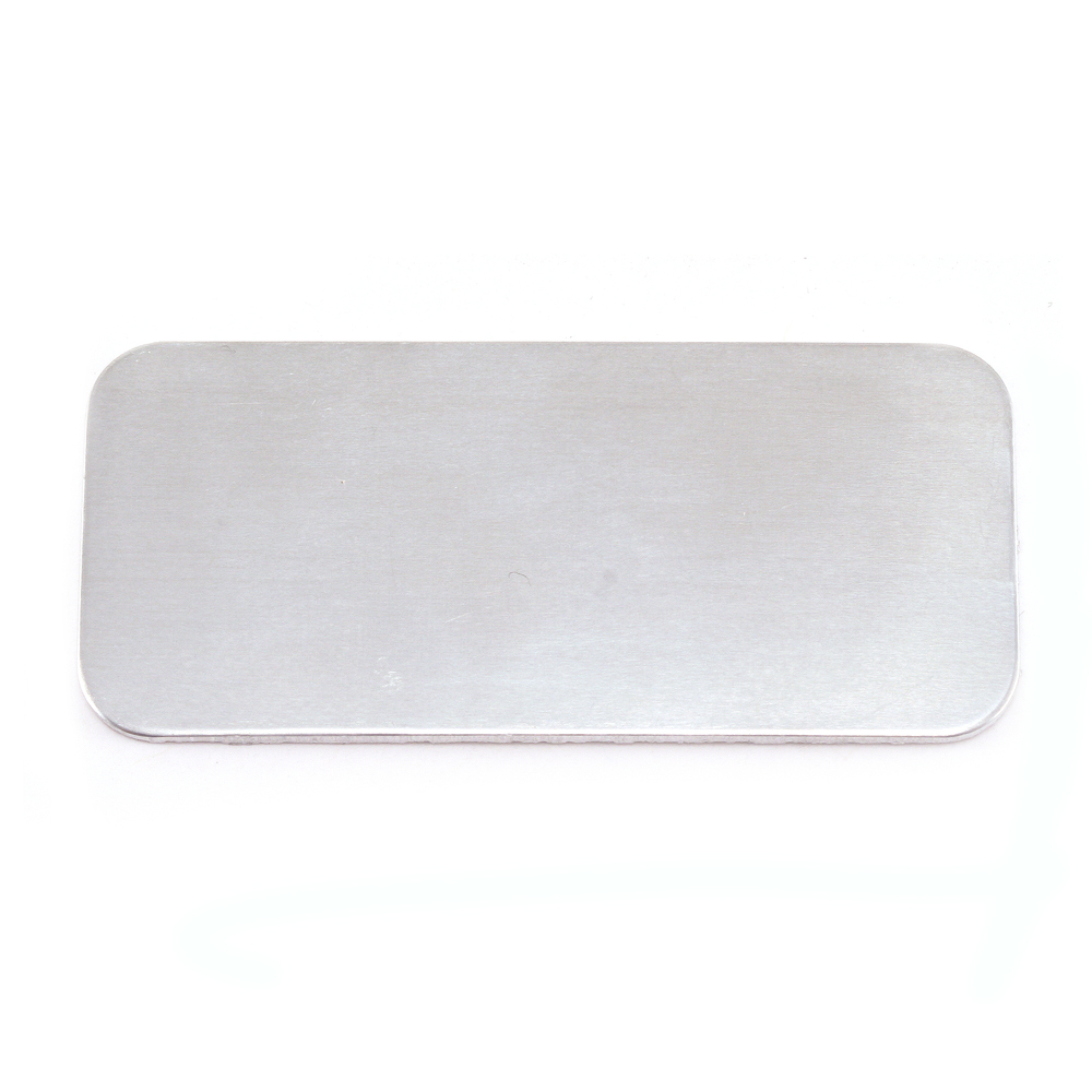 "Metal Stamping Blanks Aluminum Rectangle Blank, 44.5mm (1.75"") x 20mm (.79""), 18g"