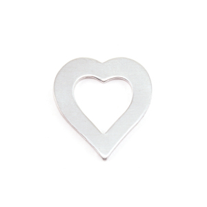 "Metal Stamping Blanks Aluminum Heart Washer, 21mm (.83"") x 19mm (.75""), 18g"
