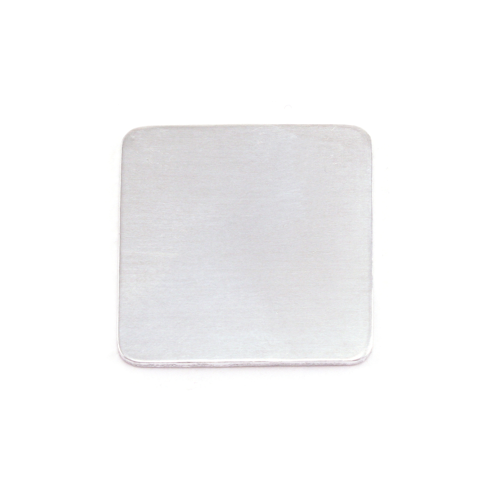 "Metal Stamping Blanks Aluminum Large Rounded Square,  19.25mm (.75""), 18g"