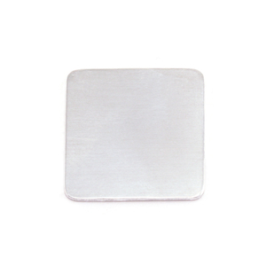 "Metal Stamping Blanks Aluminum Rounded Square, 19mm (.75""), 18g, Pack of 5"