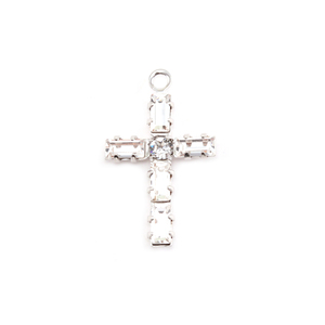 Charms & Solderable Accents Swarovski Crystal Cross Charm (Crystal Diamond - APRIL)