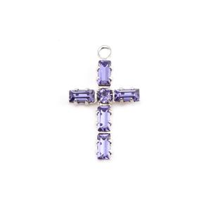 Crystals & Beads Swarovski Crystal Cross Charm (Tanzanite - DECEMBER)