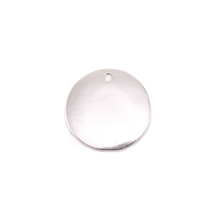 "Metal Stamping Blanks Sterling Silver Circle with Hole, 16mm (.63""), 16g"