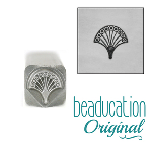 Metal Stamping Tools Fan 1, Art Deco Metal Design Stamp, 7mm - Beaducation Original