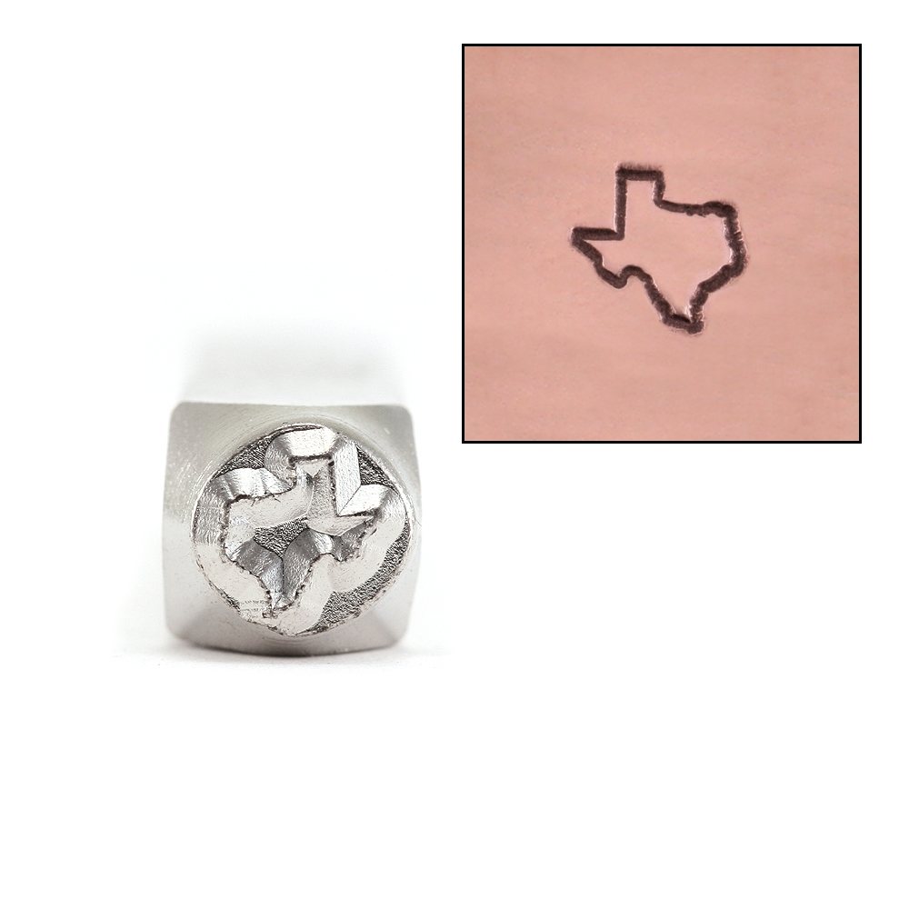 Metal Stamping Tools ImpressArt Texas Outline Metal Design Stamp