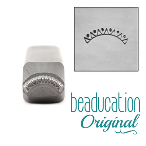 Metal Stamping Tools Triangle Curve Metal Design Stamp - Beaducation Original