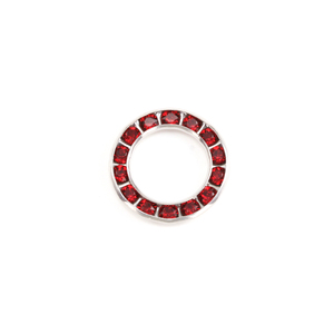 Charms & Solderable Accents Swarovski Crystal Channel Set Circle (Garnet/RUBY Siam - JAN/JULY)
