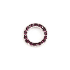 Crystals & Beads Swarovski Crystal Channel Set Circle (Amethyst - FEBRUARY)