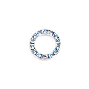 Charms & Solderable Accents Swarovski Crystal Channel Set Circle (Aquamarine - MARCH)
