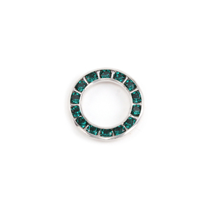 Crystals & Beads Swarovski Crystal Channel Set Circle (Emerald - MAY)