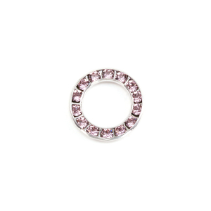 Charms & Solderable Accents Swarovski Crystal Channel Set Circle (Alexandrite - JUNE)