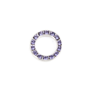 Charms & Solderable Accents Swarovski Crystal Channel Set Circle (Tanzanite - DECEMBER)