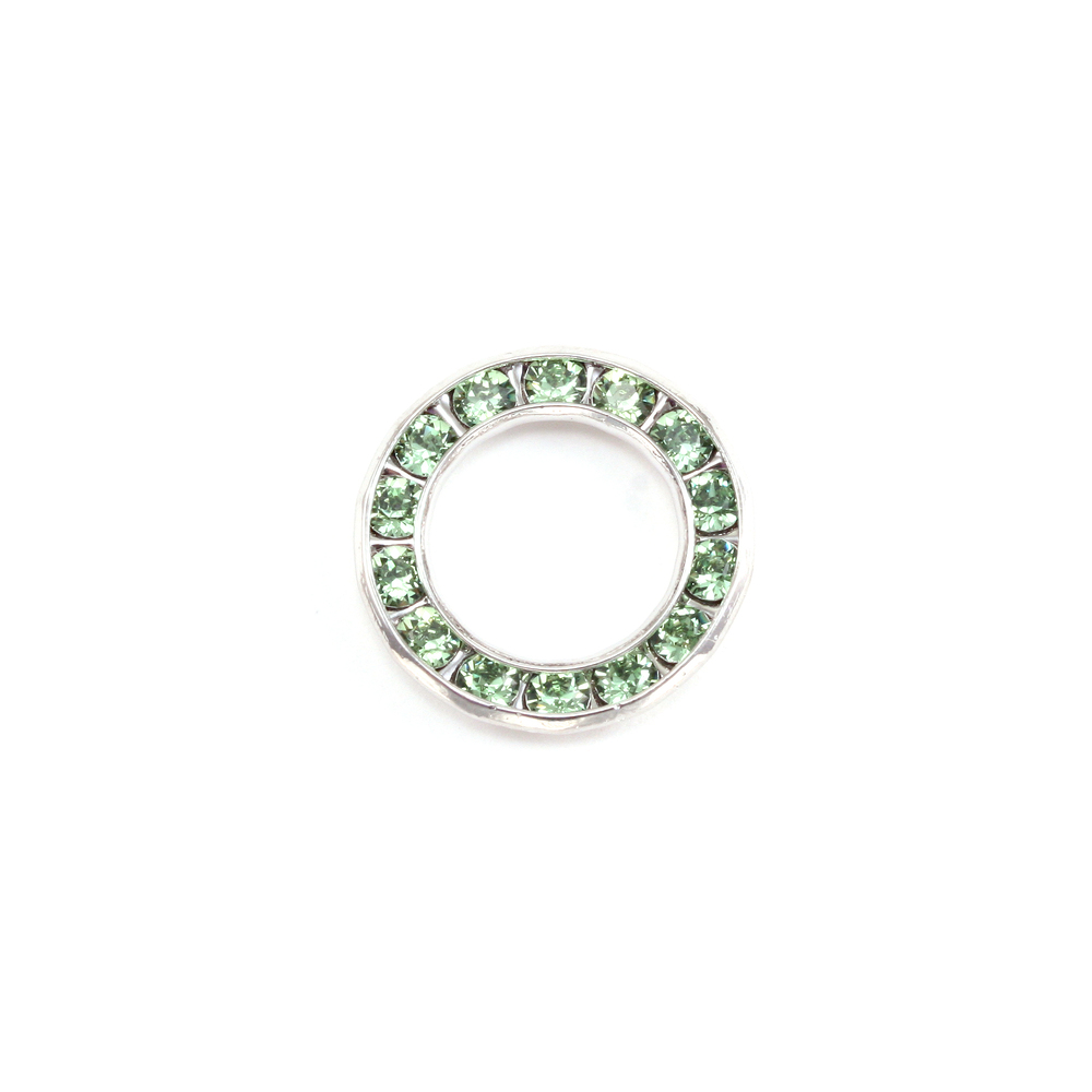 Charms & Solderable Accents Swarovski Crystal Channel Set Circle (Peridot - AUGUST)  *DISCONTINUED