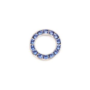 Crystals & Beads Swarovski Crystal Channel Set Circle (Sapphire - SEPTEMBER)