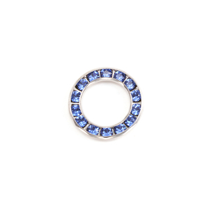 Charms & Solderable Accents Swarovski Crystal Channel Set Circle (Sapphire - SEPTEMBER)  *DISCONTINUED