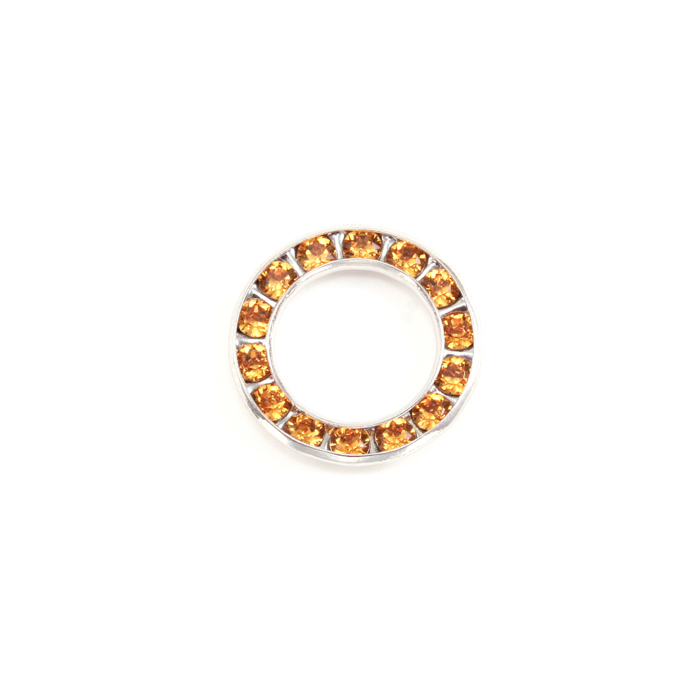 Charms & Solderable Accents Swarovski Crystal Channel Set Circle (Topaz - NOVEMBER)  *DISCONTINUED
