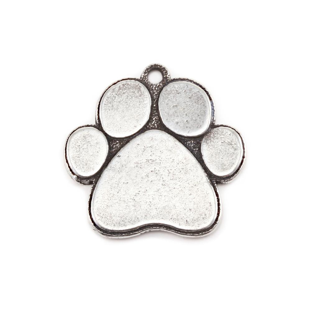 Metal stamping blanks pewter dog paw pendant 16g aloadofball Image collections