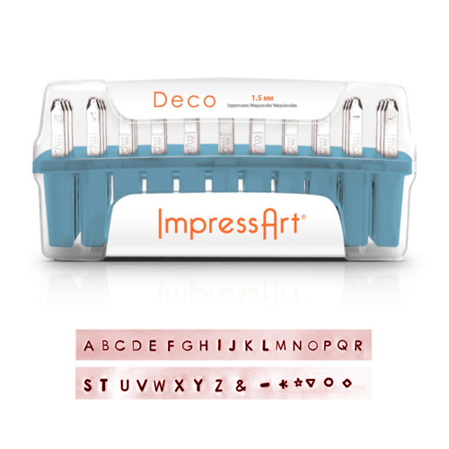 Metal Stamping Tools ImpressArt Deco Uppercase Letter Set 1.5mm