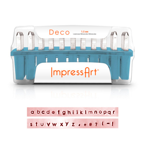 Metal Stamping Tools ImpressArt Deco Lowercase Letter Set 1.5mm