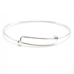 "Sterling Silver Expandable Charm Bracelet 7""-8.5"""