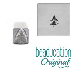 Metal Stamping Tools Small Evergreen Tree Metal Design Stamp, 5mm - Beaducation Original