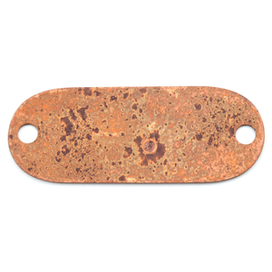 Metal Stamping Blanks Antique Copper Oval Component (Antiqued) with 2 holes, 24g