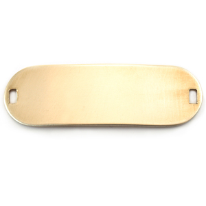 Metal Stamping Blanks Brass Oval Component with 2 holes, 22g