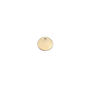 "Metal Stamping Blanks 14K Gold Circle with Hole, 8mm (.31""), 22g"