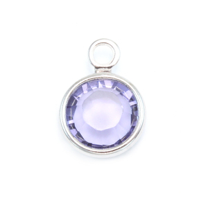 Charms & Solderable Accents Swarovski Crystal Channel Charm (Tanzanite - DECEMBER)