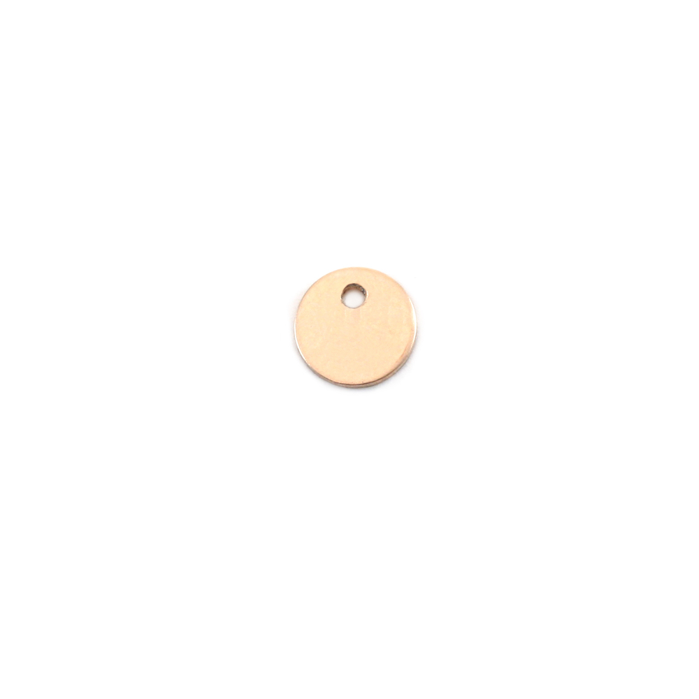 "Metal Stamping Blanks Gold Filled Round, Disc, Circle with Hole, 5mm (.20""), 24g"
