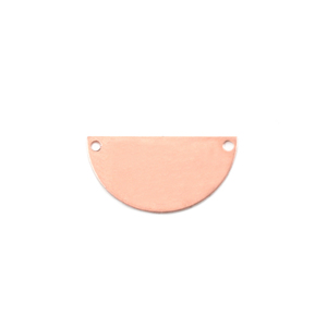 Arts & Entertainment > Hobbies & Creative Arts > Crafts & Hobbies Copper Half Circle with Holes, 24g
