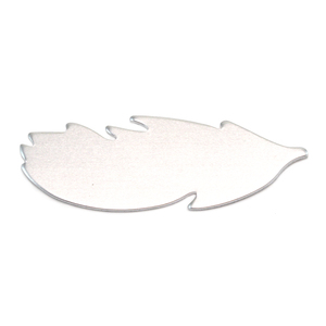 "Metal Stamping Blanks Aluminum Feather Blank, 40mm (1.57"") x 14mm (.55""), 18 Gauge, Pack of 5"