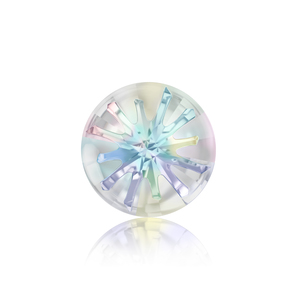 Arts & Entertainment > Hobbies & Creative Arts > Crafts & Hobbies Swarovski Crystal Sea Urchin Round Stone - Crystal AB 14mm