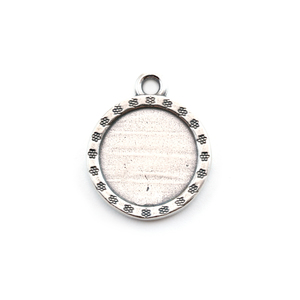Arts & Entertainment > Hobbies & Creative Arts > Crafts & Hobbies Sterling Silver Circle with Flower Edge