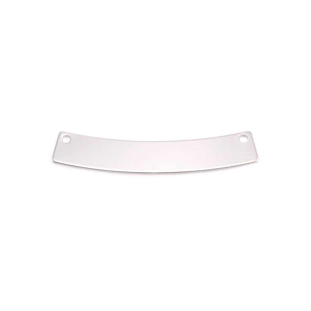 Metal Stamping Blanks Sterling Silver Curved Rectangle 5mm x 30mm, 20g