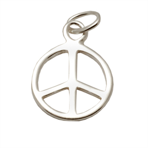 Charms & Solderable Accents Sterling Silver Peace Sign Charm