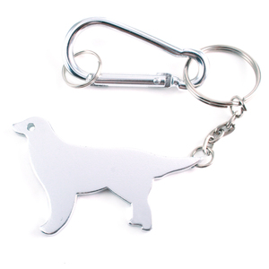 Chain & Jump Rings Dog Shape Bottle Opener Keychain