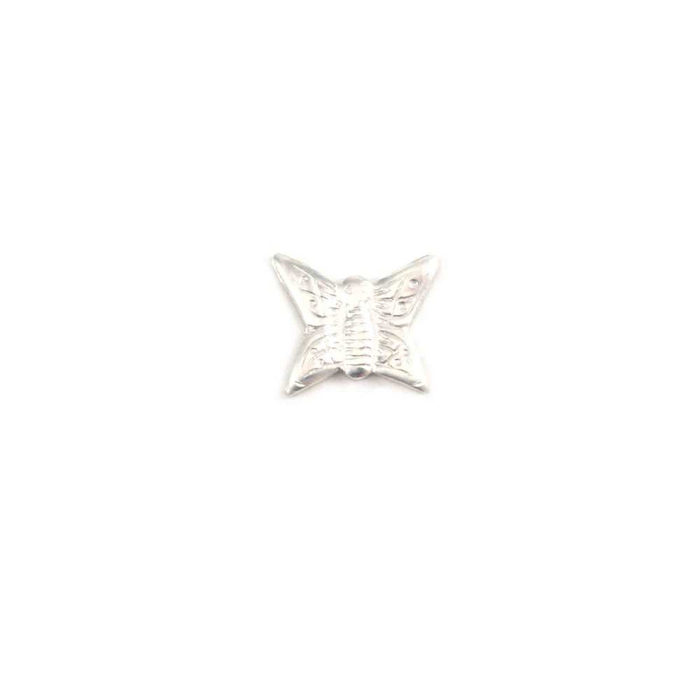 Charms & Solderable Accents Sterling Silver Butterfly Solderable Accent, 24g - Pack of 5