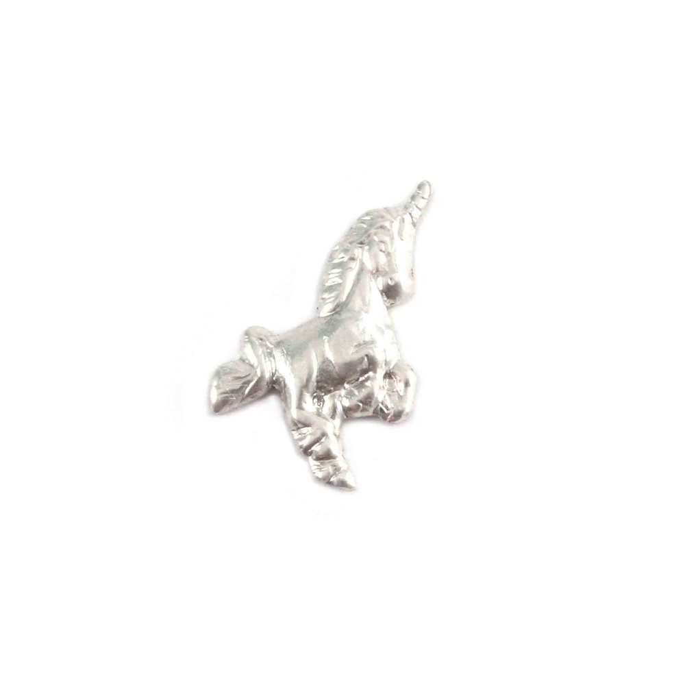 "Charms & Solderable Accents Sterling Silver Unicorn Solderable Accent, 11mm (.43"") x 11mm (.43""), 24g - Pack of 5"