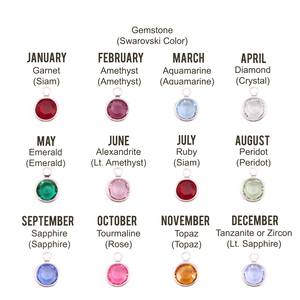 Charms & Solderable Accents Swarovski Rhodium Plated Channel Round Birthstone Pack (12pk)