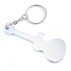 "Metal Stamping Blanks Aluminum Guitar Bottle Opener Keychain, 75mm (2.95"") x 27mm (1.6"")"