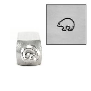 Metal Stamping Tools ImpressArt Zuni Bear Metal Design Stamp 6mm