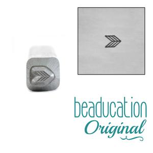 Metal Stamping Tools Triple Chevron Metal Design Stamp 3mm - Beaducation Original