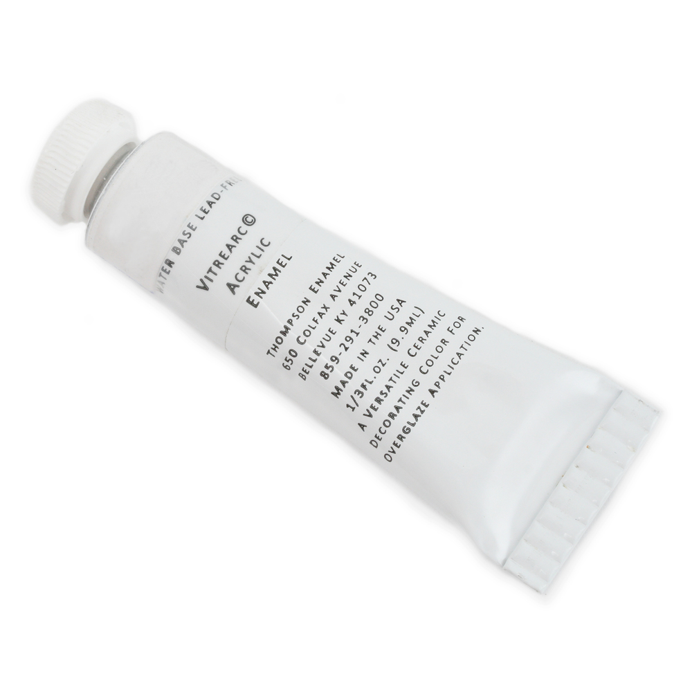 Enamel & Mixed Media Titanium White Acrylic Enamel - Thompson Enamel 1/3 fluid ounce