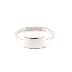 Metal Stamping Blanks Sterling Silver Tab Ring, SIZE 6