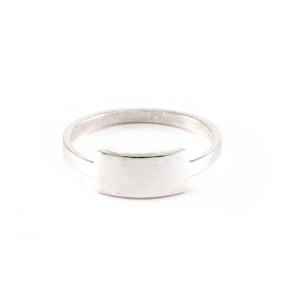 Metal Stamping Blanks Sterling Silver Tab Ring, SIZE 8